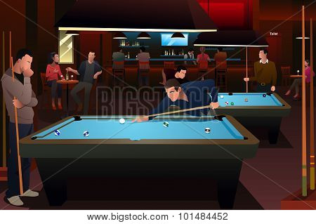 People Playing Billiard