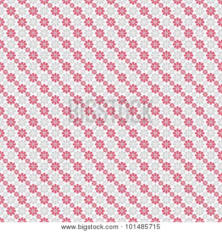 Chic  seamless pattern. Pink, white