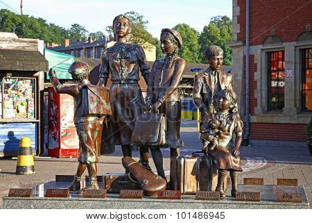 Kindertransport Monument Near Gdansk Railway Station, Poland