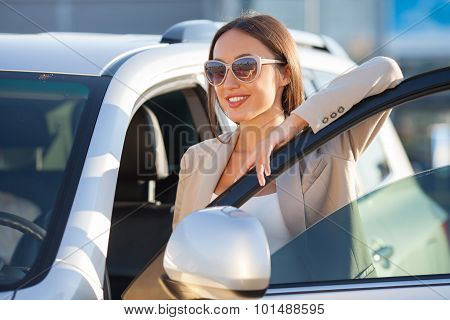Cheerful young woman is ready for her trip
