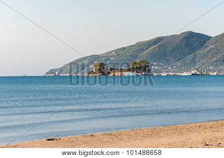 Cameo Island And Agios Sostis Port On Zakynthos