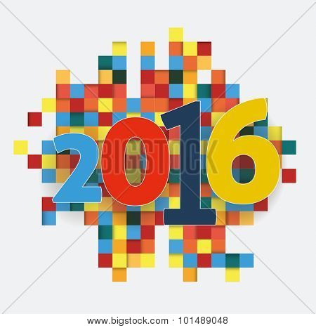New Year background 2016 abstract image.