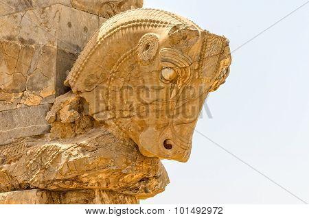 Taurus head ruins