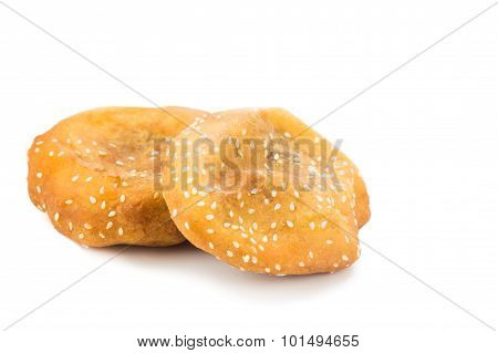 Fried Bread Bun, Or Known As Ham Chim Peng, Popular Food In Malaysia And Singapore.
