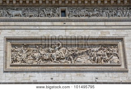 Paris Arc de Triomphe relief
