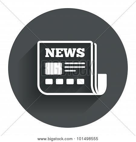 News icon. Newspaper sign. Mass media symbol.