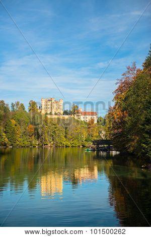 Hohenschwangau castle in the Bavarian Alps - Tirol, Germany