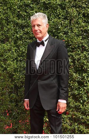 LOS ANGELES - SEP 12:  Anthony Bourdain at the Primetime Creative Emmy Awards Arrivals at the Microsoft Theater on September 12, 2015 in Los Angeles, CA