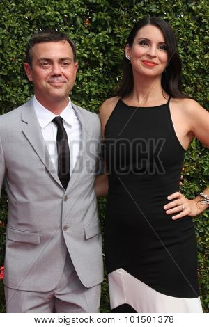 vLOS ANGELES - SEP 12:  Joe Lo Truglio, Beth Dover at the Primetime Creative Emmy Awards Arrivals at the Microsoft Theater on September 12, 2015 in Los Angeles, CA