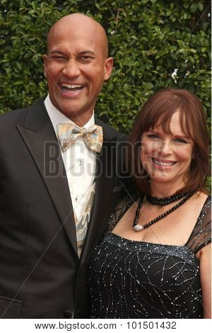 vLOS ANGELES - SEP 12:  Keegan_Michael Key, Cynthia Blaise at the Primetime Creative Emmy Awards Arrivals at the Microsoft Theater on September 12, 2015 in Los Angeles, CA