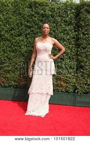 LOS ANGELES - SEP 12:  Aisha Tyler at the Primetime Creative Emmy Awards Arrivals at the Microsoft Theater on September 12, 2015 in Los Angeles, CA