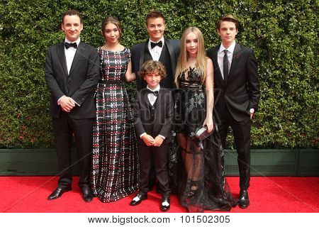 vLOS ANGELES - SEP 12:  Ben Savage, A Maturo, Rowan Blanchard, Peyton Meyer, S Carpenter, C Fogelmanis at the Creative Emmy Awards  at the Microsoft Theater on September 12, 2015 in Los Angeles, CA