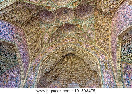Nasir Al-Mulk Mosque vaults ceiling dome