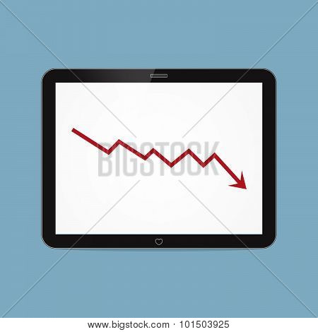 Stock Crisis With Tablet