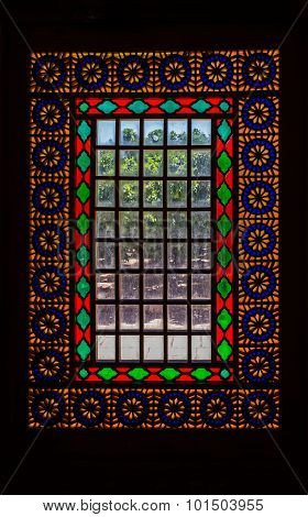 Citadel stained glass vertical