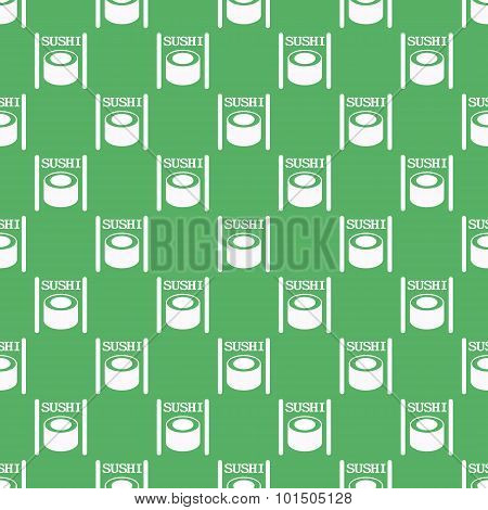 Seamless Pattern From Sushi