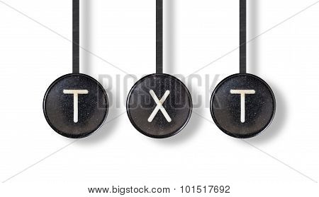 Typewriter Buttons, Isolated - Txt
