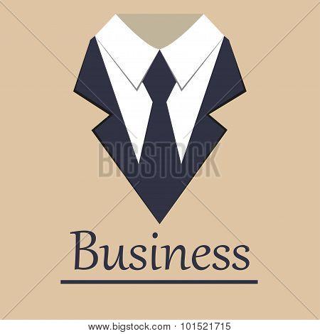 Business jacket brochure background flat style stylish