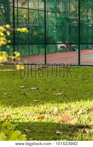 Public Tennis Court / Tennis Court / Tennis Court In Public Park