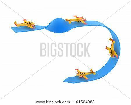 Airplane Aerobatics single overturn
