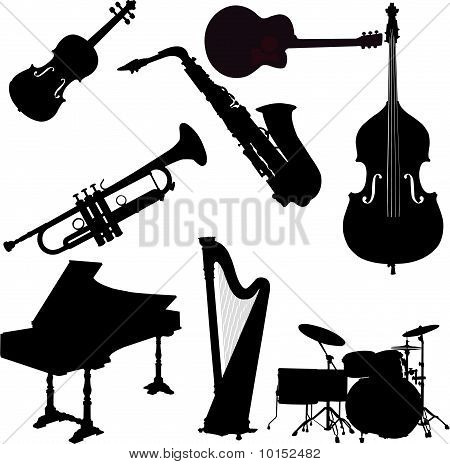 instrumens collection - vector