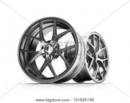 Silver Forged Alloy Car RIm