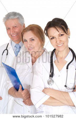 Portrait of a nice three doctors