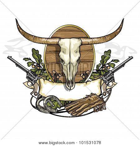 Wild west label