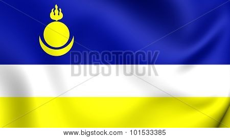 Republic Of Buryatia Flag, Russia.