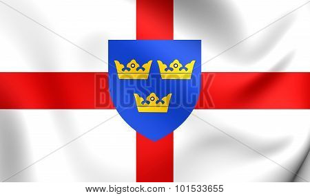 Flag Of East Anglia, England.