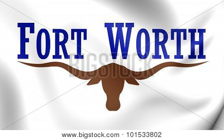 Flag Of Fort Worth City, Texas.