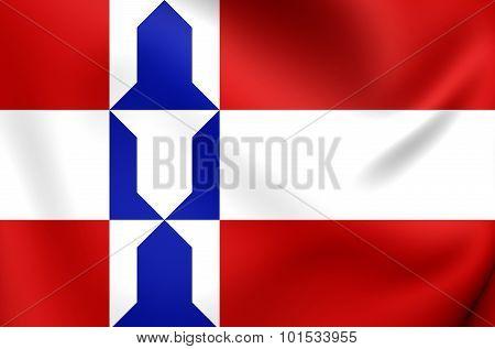 Flag Of Houten (utrecht), Netherlands.