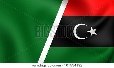 Combined Flag Of Libya