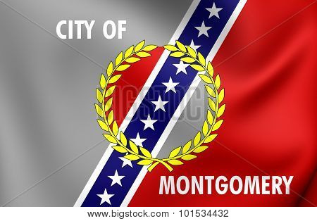 Flag Of Montgomery City (alabama), Usa.