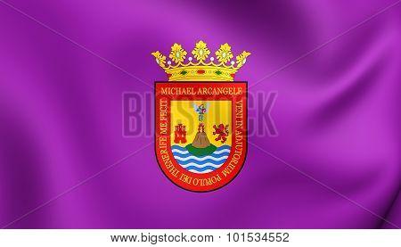 San Cristobal De La Laguna Flag (santa Cruz De Tenerife), Spain.