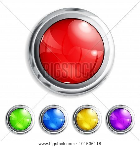 Set Of Colored Buttons