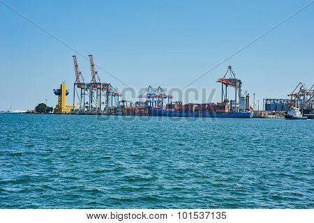 Cargo Cranes On Rails