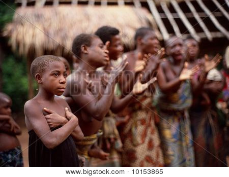 Women Of A Tribe Of Pygmies.