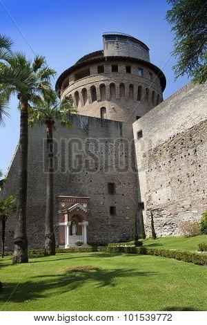 VATICAN- SEPTEMBER 20: Saint Ioann's tower at the Vatican Gardens on September 20 2010 in Vatican Ro