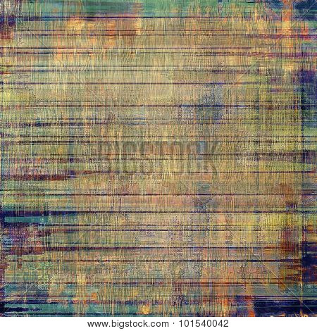 Old antique texture or background. With different color patterns: blue; brown; gray; green
