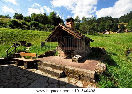 Backhaus and hay huts in the Black Forest