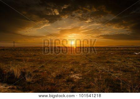 Gobi sunset