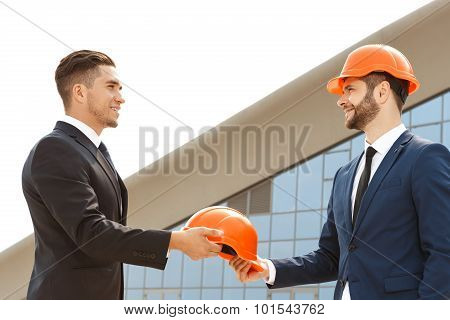 Two handsome architects met to work together