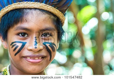 Cute Brazilian Indian in Amazon