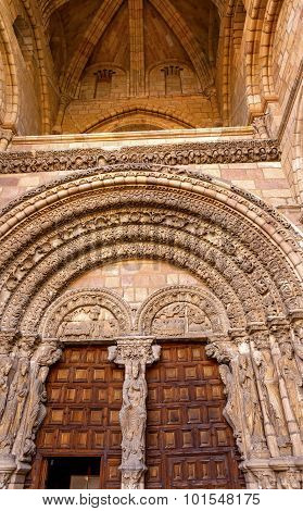 Avila Cathedral Door Castile Spain