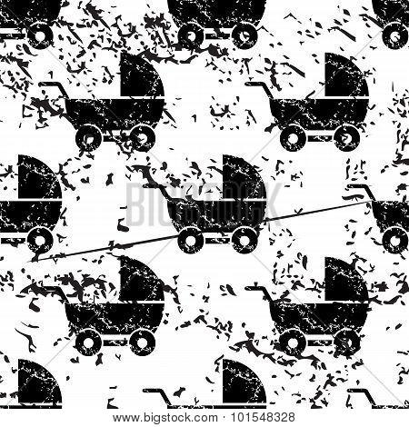 Stroller pattern, grunge, monochrome