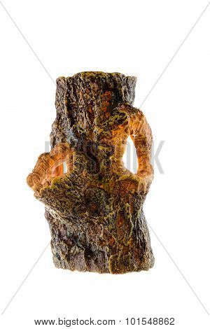 Fake Tree Stump For Decorate On White Background