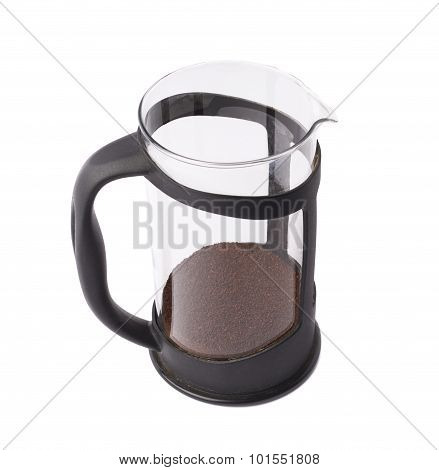 French press pot coffee maker isolated
