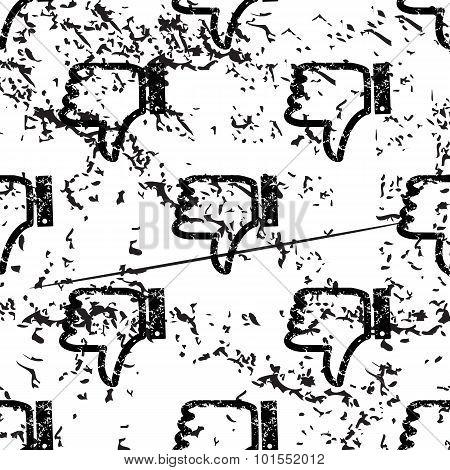 Dislike pattern, grunge, monochrome