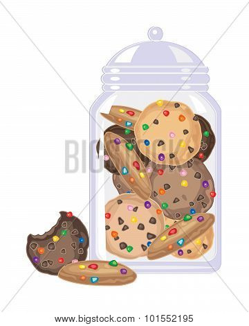 Candy Cookies In A Jar